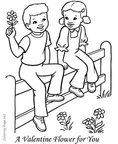 boy and girl coloring page - Coloring Pages Girls Boys