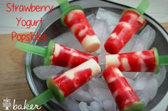 Two Ingredient Strawberry Yogurt Popsicles:  A must try for Summer!