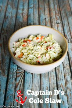 Captain Ds Cole Slaw - enjoy this restaurant favorite at home.
