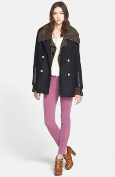 Adrianna Papell Double Breasted Sweater Jacket | Nordstrom