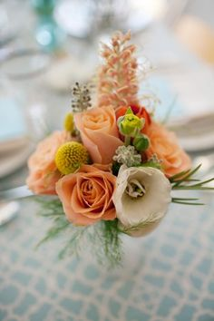 Peach and yellow bouquet with grevillea bloom. From-Here-to-Eternity-Inspiration-by-Anna-Wu-Photography-7