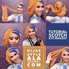 Ini Vindy Yang Ajaib: Makeup Natural dan Tutorial Hijab Wisuda Terbaru a. Hijab Style, Turban Style, Muslim Fashion, Hijab Fashion, Tutorial Hijab Wisuda, Turkish Hijab Tutorial, Modern Hijab, Snacks Für Party, Beautiful Hijab