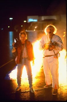 """1985 Back to the Future   l LOVE the part were Marty says to Doc, """"Are you telling me my mother's got the hots for me?""""  lol  or the part when Lorraine says, """"When l kiss you, it's kinda like... kissing my brother.  Does that make any sense?""""  YIKES  LOL!!!  CUTE movie!"""