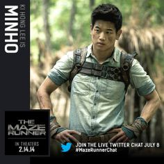 Maze Runner movie character card: Minho That aside...I LOVE KI HONG LEE. Just wanted to put that out there. <3