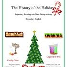This lesson is designed to enable students to have a fun Holiday reading activity.  It is a good way to trick students into reading expository text...