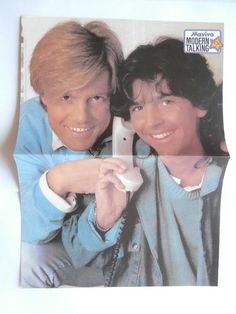 Modern Talking Wham Mini Poster Greek Magazines clippings 80s 90s | eBay