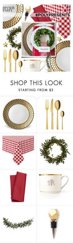 """#PolyPresents: Dinner Party"" by ewa-naukowicz-wojcik ❤ liked on Polyvore featuring interior, interiors, interior design, home, home decor, interior decorating, L'Objet, Sambonet, Nearly Natural and Simons Maison"