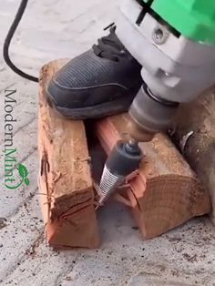 This Drill Bit will save you time and effort by making chopping firewood easier than ever Improve Efficiency: Its double-fluted design ensures optimal speed and accuracy Versatile: Use It for professional or personal use Superior Design: The grooved anti-slip design makes it more precise as well as grip better for control. Easy To Use: Attach it to any electric drill and start chopping Wide Application: Use it on the toughest woods such as oak, hickory, walnut, sycamore, and more Drill Bit, Wood Projects, Projects To Try, Wood Cutter, Cool Gadgets To Buy, Effort, Wood Tools, Cool Inventions, Home Repair