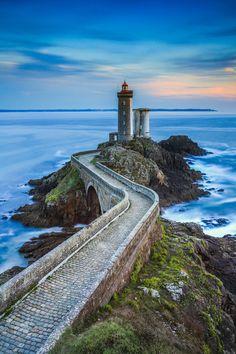 Phare du petit minou ~ lighthouse in the roadstead of Brest, Plouzané, Brittany, France by Florent Criquet