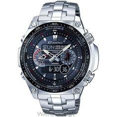 Mens Casio Edifice Waveceptor Alarm Chronograph Radio Controlled Solar Powered Watch ECW-M300EDB-1AER