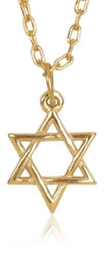 Bob Siemon Gold Plated Sculpted Star of David Pendant Necklace, 20""