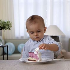 Sweden's Prince Oliver on his 1st birthday......