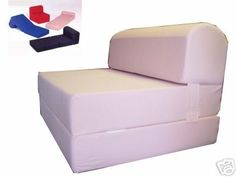 Pink Sleeper Chair Folding Foam Bed Sized Thick X Wide Long Studio Guest Foldable Beds Sofa Couch High Density Pounds