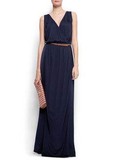 MANGO - NEW - Wrapped long dress