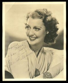 Portrait signed by Jeanette MacDonald