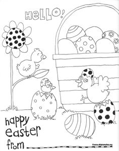 Free Printable Easter Coloring Page #print #easter