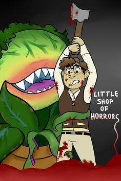 a poster kinda thing i did for little shop of horrors 🌱 Theatre Geek, Musical Theatre, Horror Art, Horror Movies, Little Shop Of Horrors, Movie Characters, Fictional Characters, Good Movies, Painted Rocks
