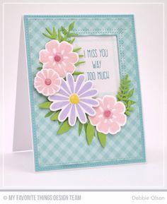 Large Desert Bouquet, Whimsical Greetings, Large Desert Bouquet Die-namics, Leafy Greenery Die-namics, Rectangle Peek-a-Boo Window Die-namics - Debbie Olson  #mftstamps