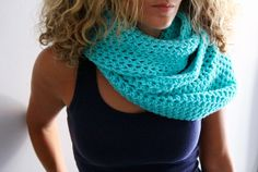 Infinity cowl mint cold weather fashion Calypso Cowl by polixeni19, $46.00