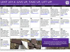 Give Up, Take Up, Lift Up!- As Father Michael encouraged us do things during Lent that will enhance us our walk with Jesus.