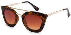 Ily Couture Jamie Spotted Tortoise Sunglasses - Brown Gradient Lenses