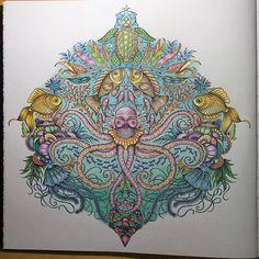 Lost Ocean by Johanna Basford. #johannabasford #johanna_basford #johannabasford_repost #lostocean #colouringbook #colouringpencils #coloring #colouring #coloringbook