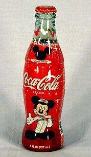 Coca~Cola Mickey Mouse 75th Anniversary Coke bottle