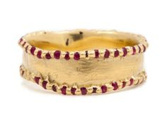Polly Wales, Ruby Edged Pinched Eternity Ring, $4.743.13, view at Polly Wales.
