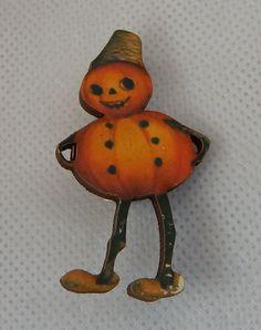 Vintage Style Pumpkin Man Halloween Brooch or Scarf Pin Wood NEW Fashion #Handmade http://www.ebay.com/itm/Vintage-Style-Pumpkin-Man-Halloween-Brooch-or-Scarf-Pin-Wood-NEW-Fashion-/162243380127?ssPageName=STRK:MESE:IT