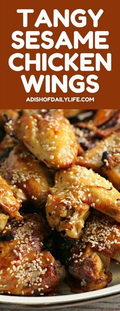 These Tangy Sesame Chicken Wings, with their Asian flair, are my go-to game day…