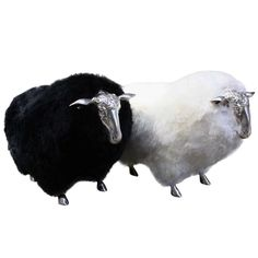 French Sheep Stools in the Style of Lalanne | From a unique collection of antique and modern stools at https://www.1stdibs.com/furniture/seating/stools/