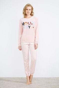 women'secret   Be happy   Pijama largo de velour navideño