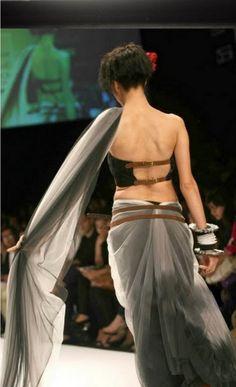 #sari #blouse #leather