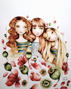 The 3 sisters art print by PrintIllustrations on Etsy, $20.00