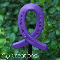 Various Cancers Purple Awareness Ribbon Garden by CapCreation