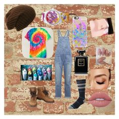 """Street artist"" by maddy-tylah04 ❤ liked on Polyvore featuring RoomMates Decor, Current/Elliott, Stance, Chanel, Casetify, Q&Q, Lime Crime and Avon"