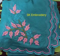 Diy Embroidery Patterns, Kurti Embroidery, Embroidery Suits Design, Indian Embroidery, Machine Embroidery Designs, Punjabi Suits, Salwar Suits, Bridal Bangles, Indian Bridal Outfits