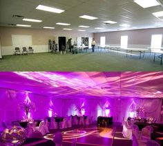 Before and After Uplighting, wedding lighting, uplighting, before and after up lights Amazing what great lighting can do