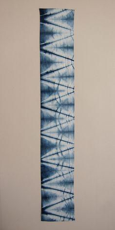 Indigo Dyed Cotton Scarf Isis by GrahamKeegan on Etsy
