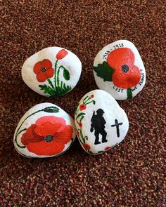 Poppy Rock Ideas for Armistice Day Remembrance Day Activities, Remembrance Day Poppy, Poppy Craft For Kids, Crafts For Kids, Paper Plate Poppy Craft, Veterans Day Poppy, Poppy Wreath, Armistice Day, Egg Carton Crafts