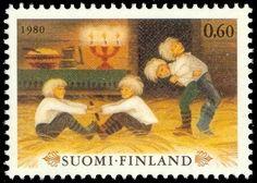 Joulupostimerkki 1980 1/2