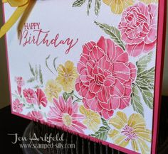 Stamped Silly: Watercolored Corner Garden - Stampin' Up!