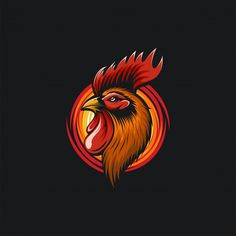 Rooster Vector, Rooster Logo, Rooster Art, Logo D'art, Chicken Logo, Fried Chicken, Wolf Artwork, Beautiful Chickens, Miniature Photography