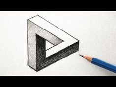 The easy way to draw an optical illusion triangle.