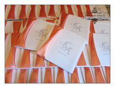 Coral vellum tri fold invitations Deannamic Designs