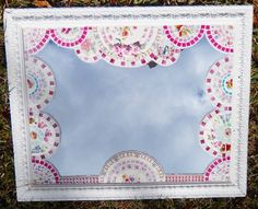 BLACK FRIDAY SALE 40% OFF please use coupon code TCS40 ar check out...Handmade Mosaic Mirror, Shabby China Plate Rim Mosaic, Large Mirror, Price reduction