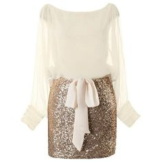 Seasonal Sparkle Dress (€175) ❤ liked on Polyvore featuring dresses, bateau neck dresses, white boat neck dress, sequin dresses, sequin embellished dress and white sparkly dress