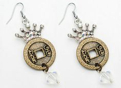 Art-i-Cake™ by Amy Labbe Crowned Coin Earrings