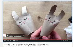 Cute bunnies from TP rolls