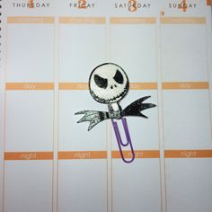 Jack Skellington Planner Paper Clip by MyCraftySweets on Etsy